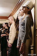 PROVIDENCE, RI - FEB 13: Models backstage during the Stetkewicz show as part of StyleWeek NorthEast on February 13, 2015 in Providence, Rhode Island. (Photo by Cat Laine)