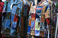 Patchwork jackets for sale at the Festival of Nations celebration in Tower Grove Park featuring dance, music, crafts and foods from around the world; St. Louis, Missouri.