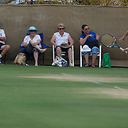 Spectators watch the competition during the 2009 ITF Super-Seniors World Team and Individual Championships at Perth, Western Australia, between 2-15th November, 2009.