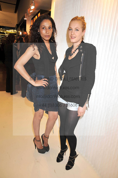 Left to right, LEENA SIMILU and POLLY MORGAN at a dinner in honour of design label Rodarte held at the Fifth Floor Restaurant, Harvey Nichols, Knightsbridge, London on 3rd June 2009.