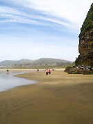 Outside Cathedral Caves on Waipati Beach, Catlins, near Papatowai, Clutha, New Zealand.  Cathedral Caves is only accessible during low tide and in the summer months.