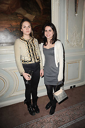 Left to right, ESME HODSOLL and ASSISI JACKSON daughter of Jade Jagger at a party to celebrate Penguin's reissue of Nancy Mitford's 'Wigs on The Green' hosted by Tatler at Claridge's, Brook Street, London on 10th March 2010.