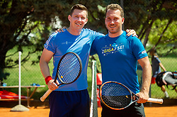 Ziga Koscak and Aleksander Kovacevic at ATP Challenger Zavarovalnica Sava Slovenia Open 2019, day 8, on August 16, 2019 in Sports centre, Portoroz/Portorose, Slovenia. Photo by Vid Ponikvar / Sportida
