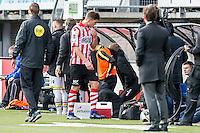 ROTTERDAM - Sparta - Vitesse , Voetbal , Eredivisie , Seizoen 2016/2017 , Het Kasteel , 11-12-2016 , eindstand 0-1 , Sparta speler Stijn Spierings krijgt rood en moet het veld verlaten