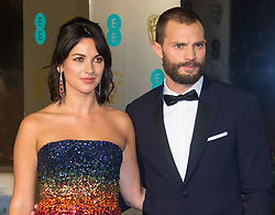 Photo Must Be Credited ©Alpha Press<br /> Jamie Dornan and wife Amelia Warner<br /> arrives at the EE British Academy Film Awards after party dinner at the Grosvenor House Hotel in London.