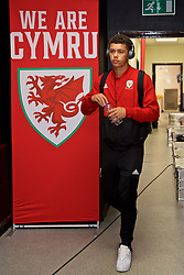 WREXHAM, WALES - Tuesday, September 10, 2019: Wales' Brennan Johnson arrives before the UEFA Under-21 Championship Italy 2019 Qualifying Group 9 match between Wales and Germany at the Racecourse Ground. (Pic by David Rawcliffe/Propaganda)