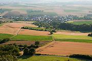 Blick von der Feste Otzberg auf Nieder-Klingen, Odenwald, Naturpark Bergstraße-Odenwald, Hessen, Deutschland | view of Otzberg castle, Odenwald, Hesse, Germany
