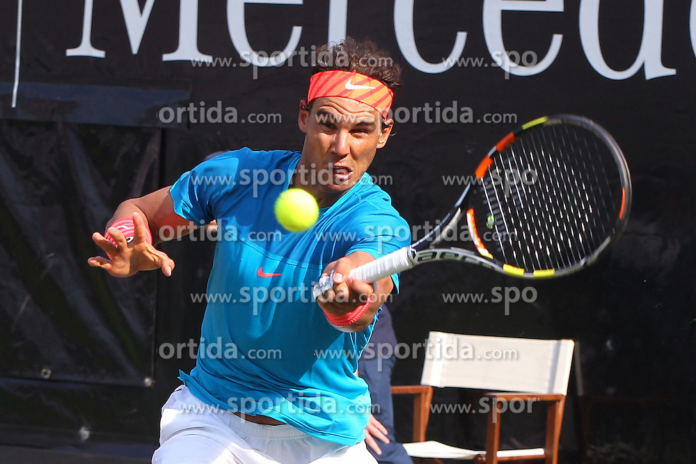 11.06.2015, Tennis Club Weissenhof, Stuttgart, GER, ATP Tour, Mercedes Cup Stuttgart, im Bild Rafael Nadal ( ESP ) // during the Mercedes Cup of ATP world Tour at the Tennis Club Weissenhof in Stuttgart, Germany on 2015/06/11. EXPA Pictures &copy; 2015, PhotoCredit: EXPA/ Eibner-Pressefoto/ Langer<br /> <br /> *****ATTENTION - OUT of GER*****