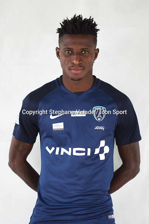 Edmond Akichi during photoshooting of Paris FC for new season 2017/2018 on October 17, 2017 in Paris, France<br /> Photo : Stephane Valade / Icon Sport
