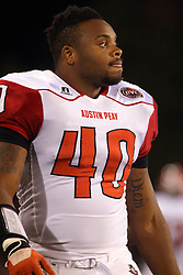 27 September 2014: Corey Teague during an NCAA football game between the Austin Peay Governors and the Illinois State Redbirds at Hancock Stadium in Normal IL