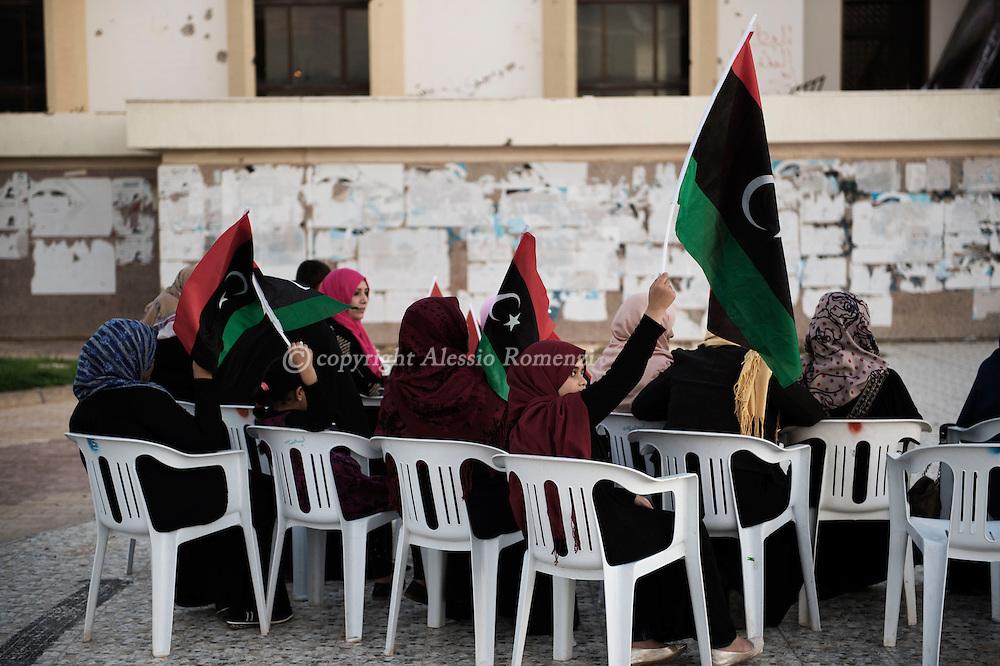 Libya, Misurata: Demonstration against the municipality in Misurata. Alessio Romenzi