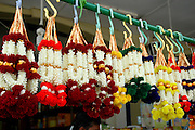Flower garlands at a grocer in Little India, Singapore