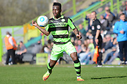 Forest Green Rovers midfielder Drissa Traore (4) controls the ball 0-1 during the Vanarama National League match between Forest Green Rovers and North Ferriby United at the New Lawn, Forest Green, United Kingdom on 1 April 2017. Photo by Alan Franklin.