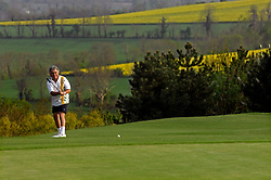 NORMANDY, FRANCE - MAY-01-2007 - David Sabbag of Australia, putts on to the 9th hole of the L'Etang course of the Omaha Beach Golf Club -  Course: L' Etang (The Lake) Hole 9 - 479 yards - Par 5 (Photo © Jock Fistick)
