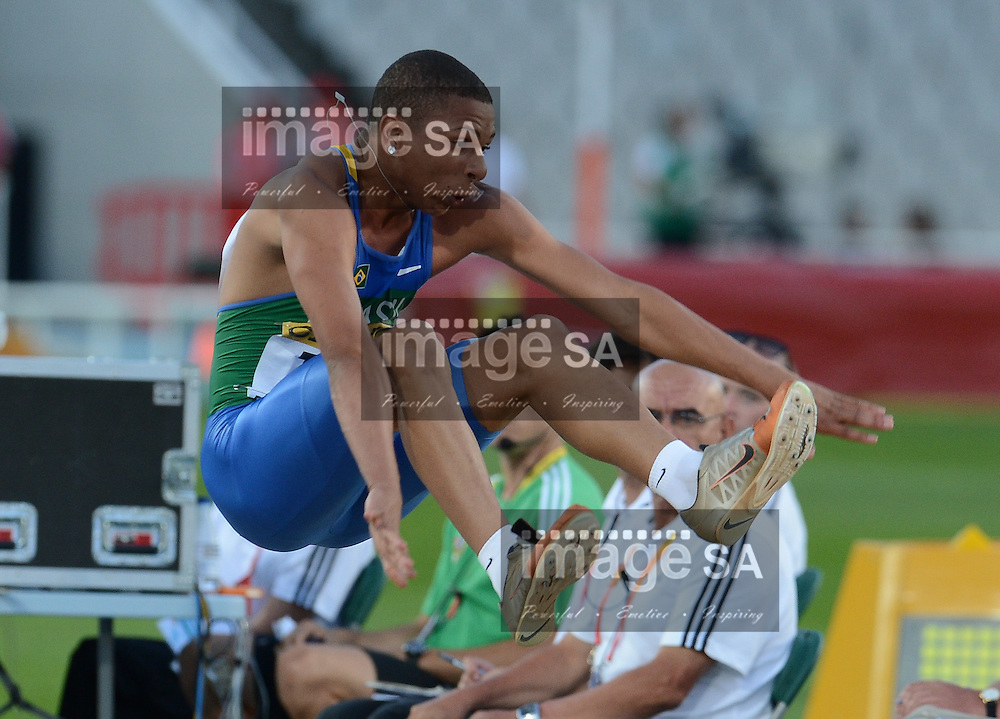 BARCELONA, Spain: Wednesday 11 July 2012, Tiago Da Silva (Brazil) in the mens long jump during the afternoon session of day 2 of the IAAF World Junior Championships at the Estadi Olimpic de Montjuic..Photo by Roger Sedres/ImageSA