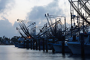 Fishing boats docked in Plaquemines Parish, Louisisan