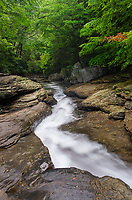 Natural Waterslides on Meadow Run. Ohiopyle State Park,  Pennsylvania