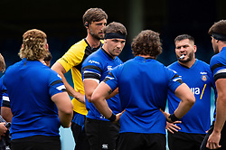 Charlie Ewels speaks to his team-mates, Bath Rugby were allowed to start Stage Two of the Premiership Rugby return to play protocol - Mandatory byline: Patrick Khachfe/JMP - 07966 386802 - 06/08/2020 - RUGBY UNION - The Recreation Ground - Bath, England - Bath Rugby training