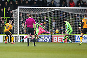 Cambridge United's George Maris(18) shoots at goal scores a goal 0-1 during the EFL Sky Bet League 2 match between Forest Green Rovers and Cambridge United at the New Lawn, Forest Green, United Kingdom on 20 January 2018. Photo by Shane Healey.
