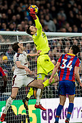 Crystal Palace #13 Wayne Hennessey, Crystal Palace #34 Martin Kelly during the Premier League match between Crystal Palace and Burnley at Selhurst Park, London, England on 13 January 2018. Photo by Sebastian Frej.