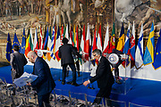 Summit of EU leaders to mark the 60th anniversary of the bloc's founding Treaty of Rome, on March 25, 2017 at Rome's Piazza del Campidoglio (Capitoline Hill). Christian Mantuano / OneShot
