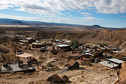 Aerial view of Calico Ghost Town, Calico, California, United States of America