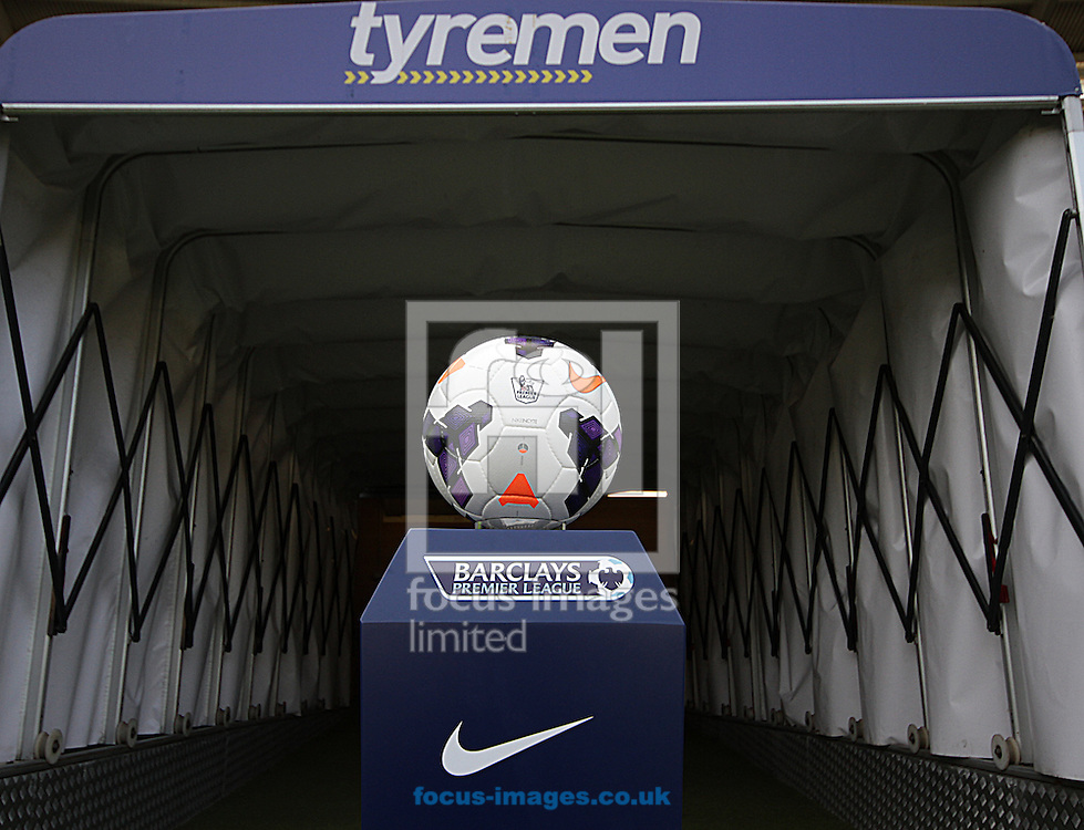Picture by Richard Gould/Focus Images Ltd +44 7855 403186<br /> 28/09/2013<br /> View of the match ball during the Barclays Premier League match at the KC Stadium, Kingston upon Hull.