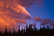Clouds at sunset<br /> Jasper National Park<br /> Alberta<br /> Canada