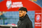England defender Tyrone Mings comes onto the pitch ahead of the UEFA European 2020 Qualifier match between Bulgaria and England at Stadion Vasil Levski, Sofia, Bulgaria on 14 October 2019.