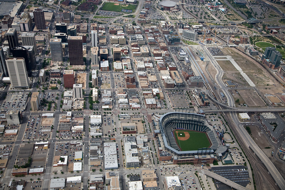 Coors Field and surrounding neighborhood
