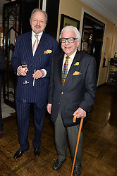 Left to right, PETER BOWLES and BARRY CRYER at the Oldie Magazine's Oldie of The Year Awards held at Simpson's In The Strand, London on 4th February 2014.