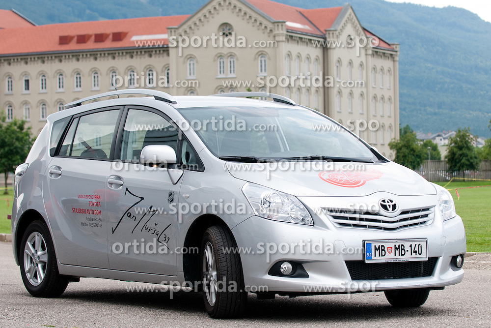 Car by Jan Mursak, Detroit Red Wings and Grand Rapids Griffins, at Off ice training for Jan Mursak and Mitja Robar with fitness coach Ales Voh, on June 17, 2011at Ledna Dvorana, Maribor, Slovenia. (Photo By Matic Klansek Velej / Sportida.com)
