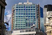 City construction work with cranes, London, England, United Kingdom