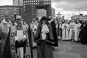 Bishop of Lambeth, Bishop of Southwark, Mayor of Southwark, The Blessing of the river, St. Magnus the Martyr and Southwark Cathedral join on London Bridge to Bless the river Thames. 13 January 2019