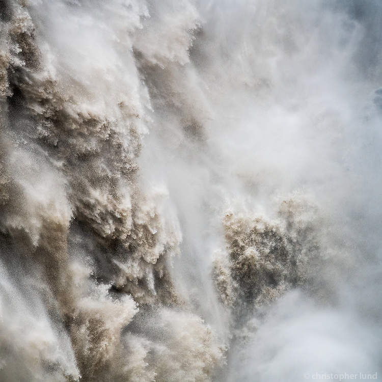 """The Angry Water"". Detail of Dettifoss waterfall in North Iceland. This fall is the most powerful in Europe."