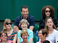 LONDON, ENGLAND - Saturday, July 5, 2014: Richard Krajicek during the Ladies' Singles Final match on day twelve of the Wimbledon Lawn Tennis Championships at the All England Lawn Tennis and Croquet Club. (Pic by David Rawcliffe/Propaganda)