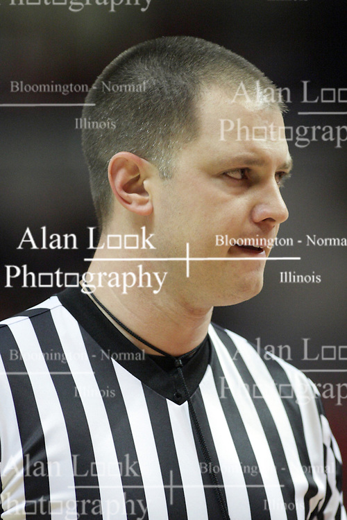 02 February 2013:  referee Gene Grimshaw during an NCAA Missouri Valley Conference mens basketball game where the Salukis of Southern Illinois lost to the Illinois State Redbirds for Retro-Night 83-47 in Redbird Arena, Normal IL