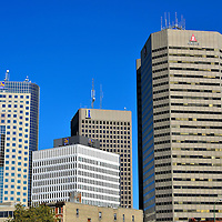 Downtown Skyscrapers in Winnipeg, Canada<br />