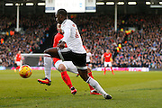 Sone Aluko during the EFL Sky Bet Championship match between Fulham and Brighton and Hove Albion at Craven Cottage, London, England on 2 January 2017. Photo by Jarrod Moore.