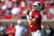 DALLAS, TX - OCTOBER 25:  Garrett Krstich #14 of the SMU Mustangs drops back to pass against the Memphis Tigers during the 2nd quarter on October 25, 2014 at Gerald J. Ford Stadium in Dallas, Texas.  (Photo by Cooper Neill/Getty Images) *** Local Caption *** Garrett Krstich
