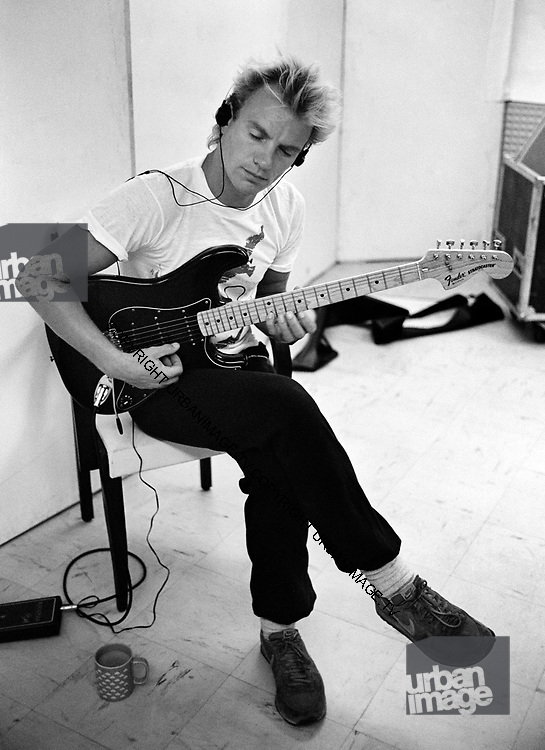 Sting - The Police - backstage 1982