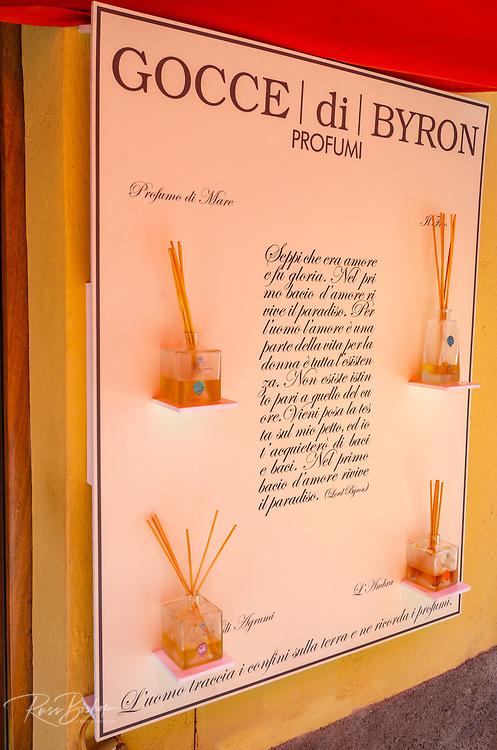 Perfume shop display, Vernazza, Cinque Terre, Liguria, Italy