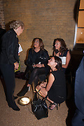 CAROLE PHILLIPS; ZAHA HADID; MYA; ELISKA KAPRITSKY, VIP opening  of the new Serpentine Sackler Gallery designed by Zaha Hadid . Kensinton Gdns. London. 25 September 2013