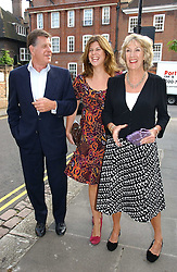 SIMON & ANNABEL ELLIOT she is the sister of the Duchess of Cornwall and their daughter KATIE ELLIOT at Sir David & Lady Carina Frost's annual summer party held in Carlyle Square, Chelsea, London on 5th July 2006.<br />