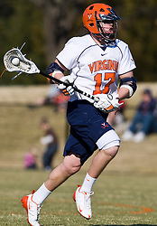 Virginia Cavaliers M Mike Thompson (17) in action against Drexel.  The #2 ranked Virginia Cavaliers defeated the Drexel Dragons 13-7 at the University of Virginia's Klockner Stadium in Charlottesville, VA on February 14, 2009.