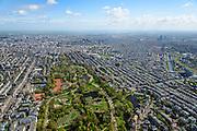 Nederland, Noord-Holland, Amsterdam, 09-04-2014; Amsterdam-Zuid,  overzicht Vondelpark richting binnenstad.<br /> Vondel park, Amsterdam South.<br /> luchtfoto (toeslag op standard tarieven);<br /> aerial photo (additional fee required);<br /> copyright foto/photo Siebe Swart