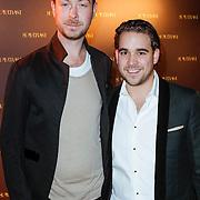 NLD/Amsterdam/20120128 - Modeshow Supertrash,  Jan Taminiau en partner Joris Ottow