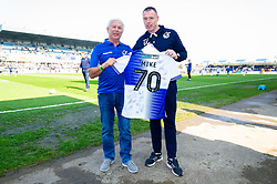 Birthday presentation from Bristol Rovers manager Graham Coughlan prior to kick off  - Mandatory by-line: Ryan Hiscott/JMP - 30/03/2019 - FOOTBALL - Memorial Stadium - Bristol, England - Bristol Rovers v Luton Town - Sky Bet League One