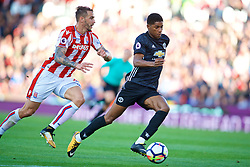 STOKE-ON-TRENT, ENGLAND - Saturday, September 9, 2017: Manchester United's Marcus Rashford during the FA Premier League match between Stoke City and Manchester United at the Bet365 Stadium. (Pic by David Rawcliffe/Propaganda)