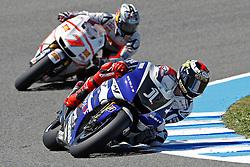 01.04.2011, Jerez de La Frontera, ESP, MotoGP, Gran Premio bwin de Espana, im Bild Jorge Lorenzo - Yamaha factory team during MotoGP at Gran Premio bwin de Espana in Jerez de La Frontera Spain on 1/4/2011. EXPA Pictures © 2011, PhotoCredit: EXPA/ InsideFoto/ Semedia +++++ ATTENTION - FOR AUSTRIA/AUT, SLOVENIA/SLO, SERBIA/SRB an CROATIA/CRO CLIENT ONLY +++++